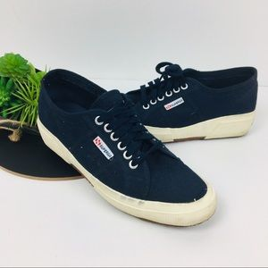 Navy wedge sneaker Superga size 9.5Womens